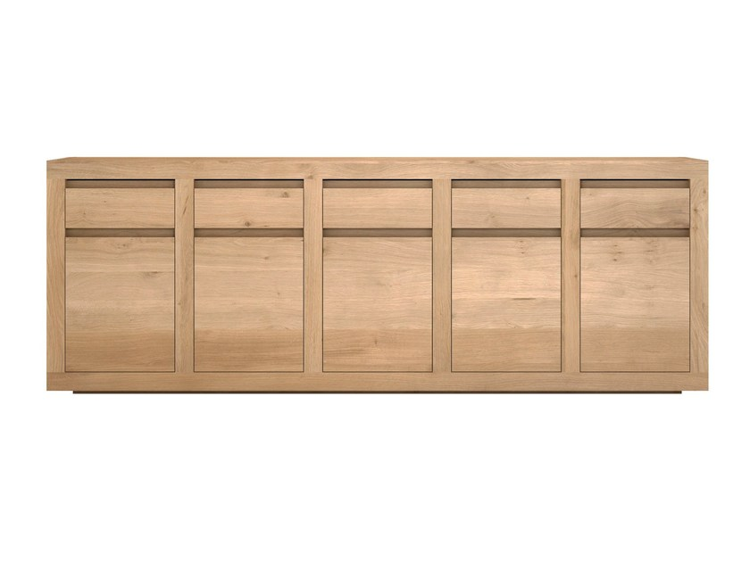 Solid wood sideboard with doors and drawers OAK FLAT   Sideboard by Ethnicraft