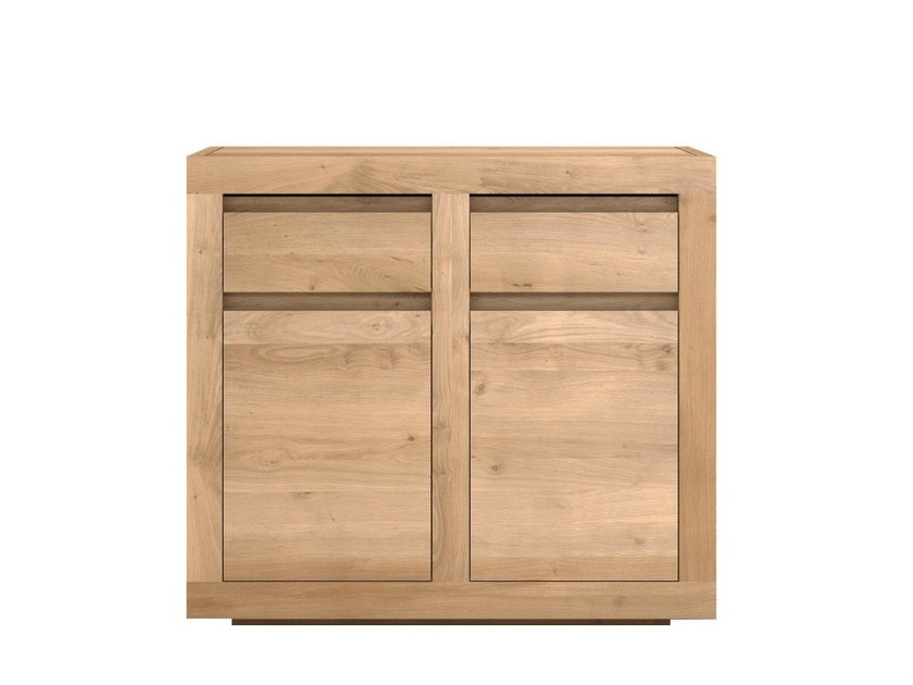 Solid wood sideboard with doors and drawers OAK FLAT | Solid wood sideboard by Ethnicraft