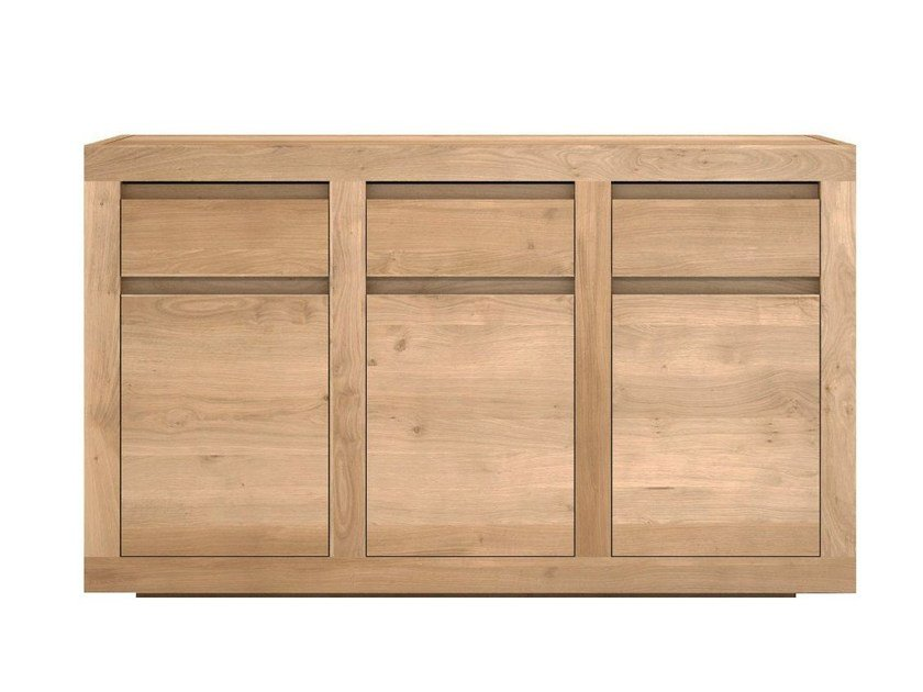 Wooden sideboard with doors and drawers OAK FLAT | Wooden sideboard by Ethnicraft
