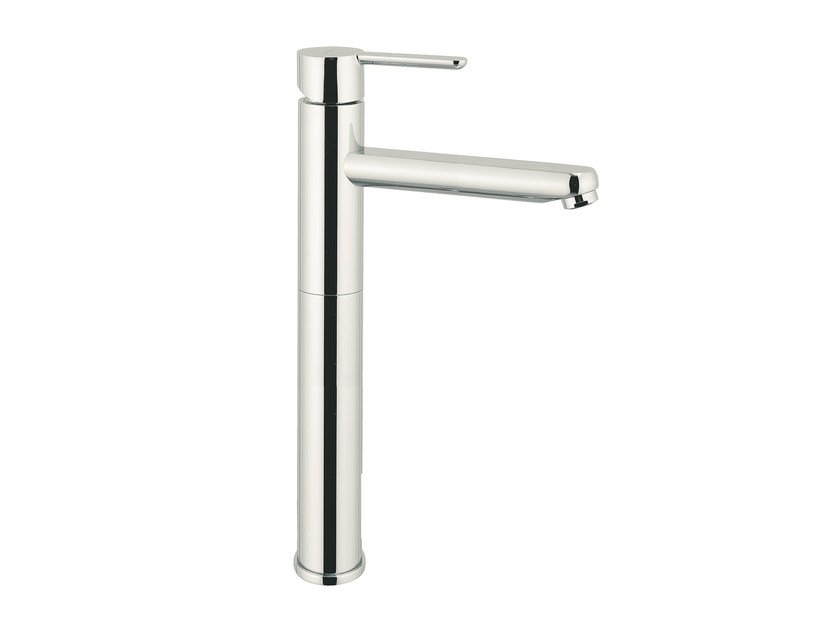 Single handle washbasin mixer without waste NOIR | Single handle washbasin mixer by Rubinetterie Mariani