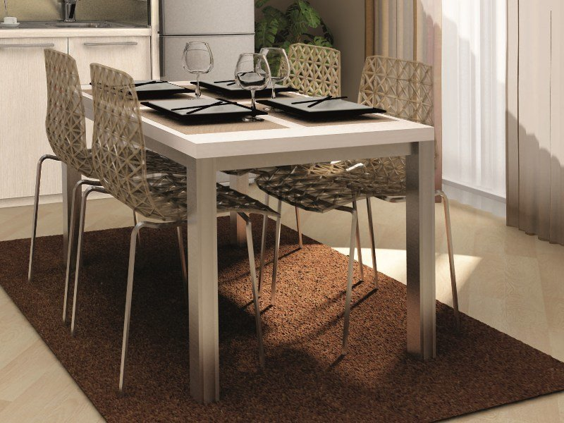 Rectangular melamine-faced chipboard contract table TECNO | Rectangular table by Mobilspazio