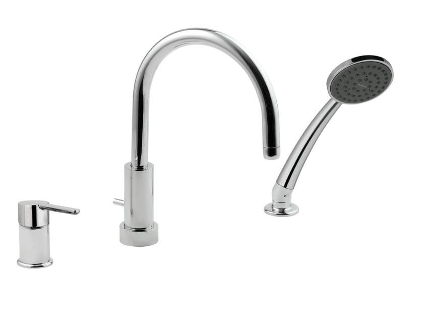 3 hole bathtub set with hand shower NOIR | Bathtub set by Rubinetterie Mariani