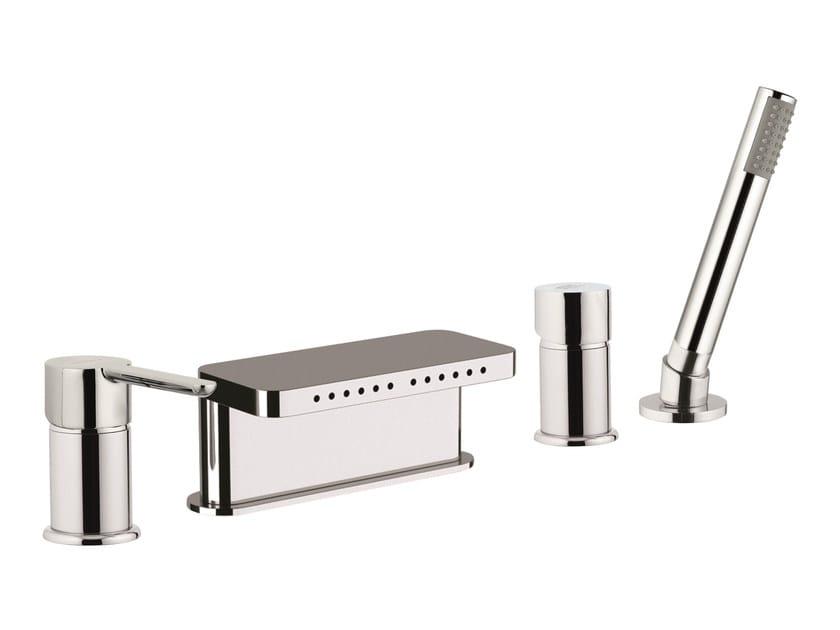 4 hole bathtub set with diverter NOIR | 4 hole bathtub set by Rubinetterie Mariani