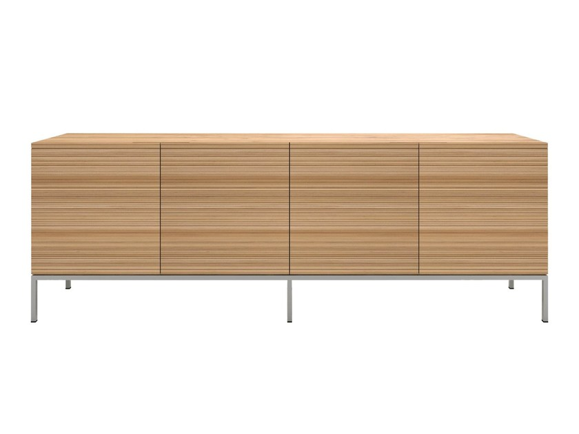 Solid wood sideboard with doors OAK STONECUT | Solid wood sideboard by Ethnicraft