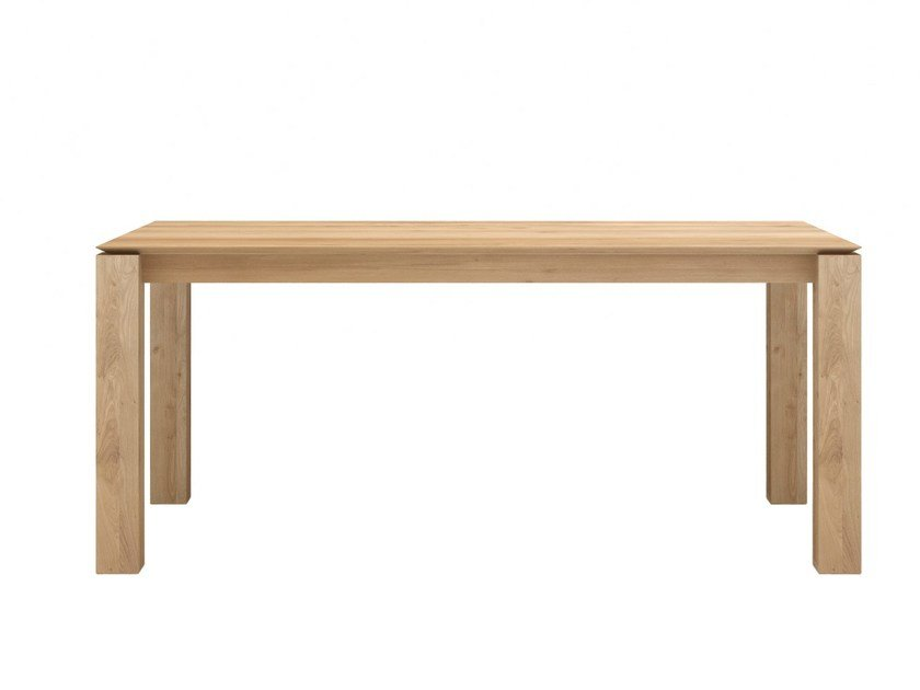 Rectangular solid wood dining table OAK SLICE | Table by Ethnicraft