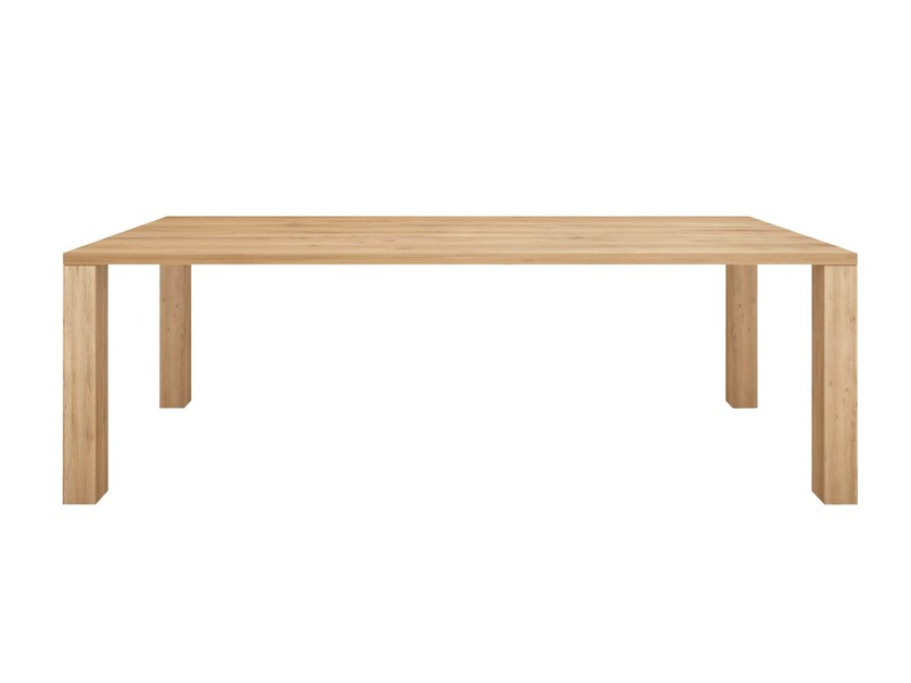 Rectangular solid wood dining table OAK APRON | Table by Ethnicraft