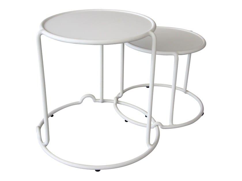 Round aluminium garden side table PANAMA | Garden side table by Sérénité Luxury Monaco