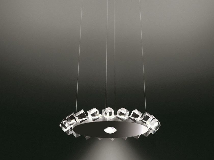 Direct-indirect light pendant lamp COLLIER UNO by Cini&Nils