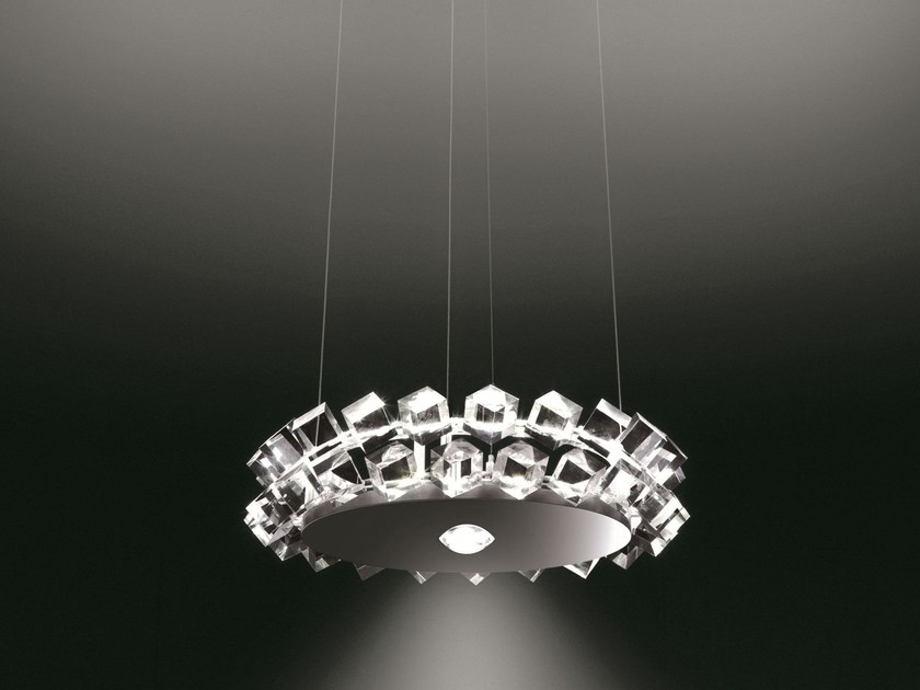 Direct-indirect light pendant lamp COLLIER DUE by Cini&Nils