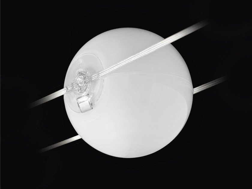 Opal glass pendant lamp TENSESTERNI SFERA OPALESCENTE by Cini&Nils