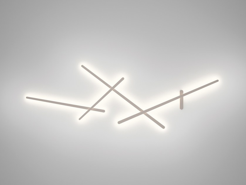 polycarbonate wall lamp sparks 1700 by vibia design arik levy