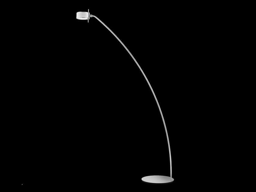 Lampada da terra a LED NEWCOMPONI200 CURVA By Cini&Nils design studio Bettonica Leone, Luta Bettonica, Mario Melocchi ZqbSeb