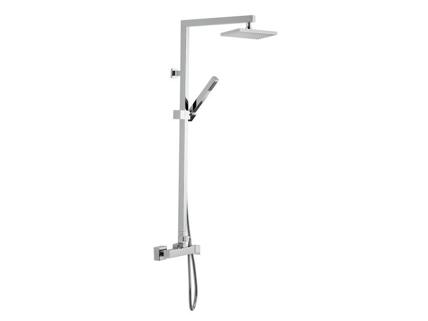 Wall-mounted shower column with hand shower with overhead shower POLAR | Shower panel by Rubinetterie Mariani
