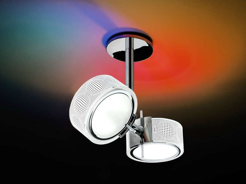 Direct-indirect light ceiling lamp COMPONI200 DUE SOFFITTO 25 by Cini&Nils