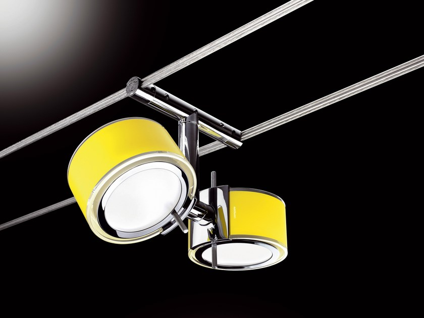 Cable-mounted pendant lamp MINITENSO COMPONI75 DUE by Cini&Nils