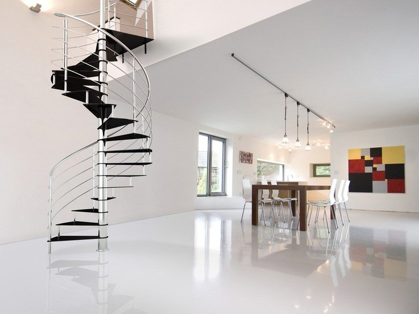 Steel Spiral staircase LAFONT LASTRA by Fontanot