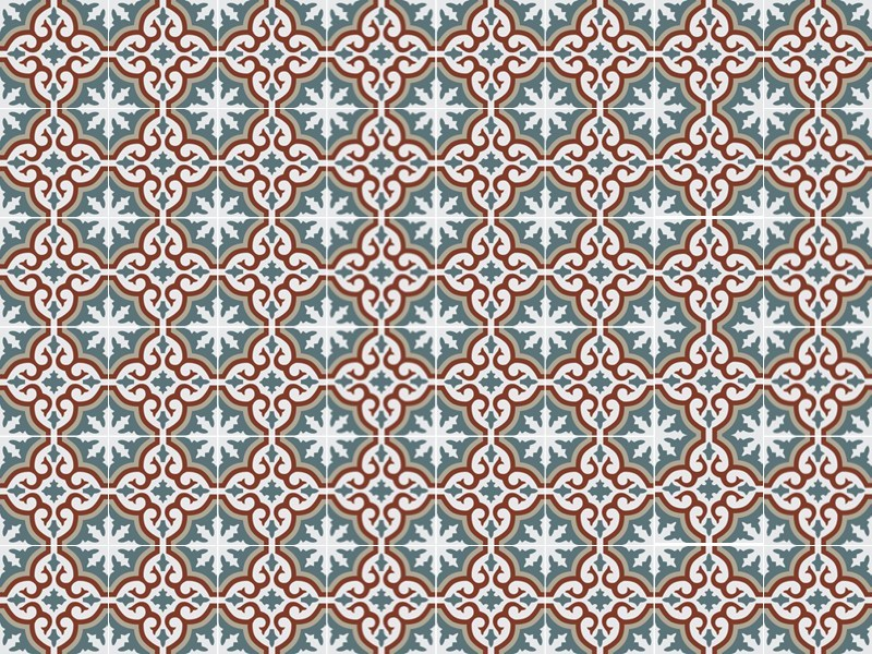 Indoor/outdoor cement wall/floor tiles ODYSSEAS 289 by TsourlakisTiles
