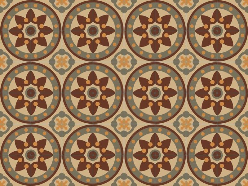 Indoor/outdoor cement wall/floor tiles ODYSSEAS 253 by TsourlakisTiles