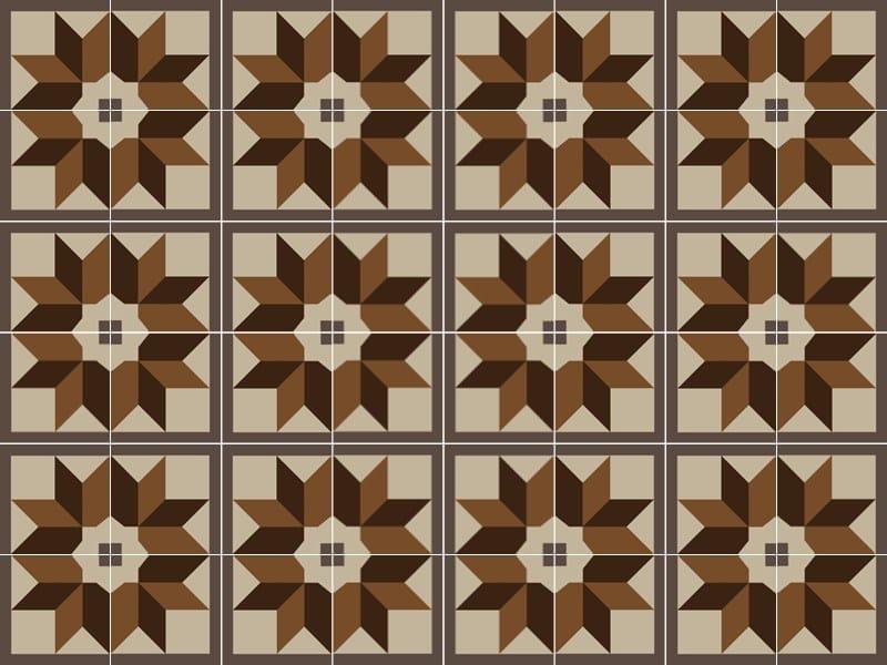 Handmade cement tiles ODYSSEAS 296 by TsourlakisTiles
