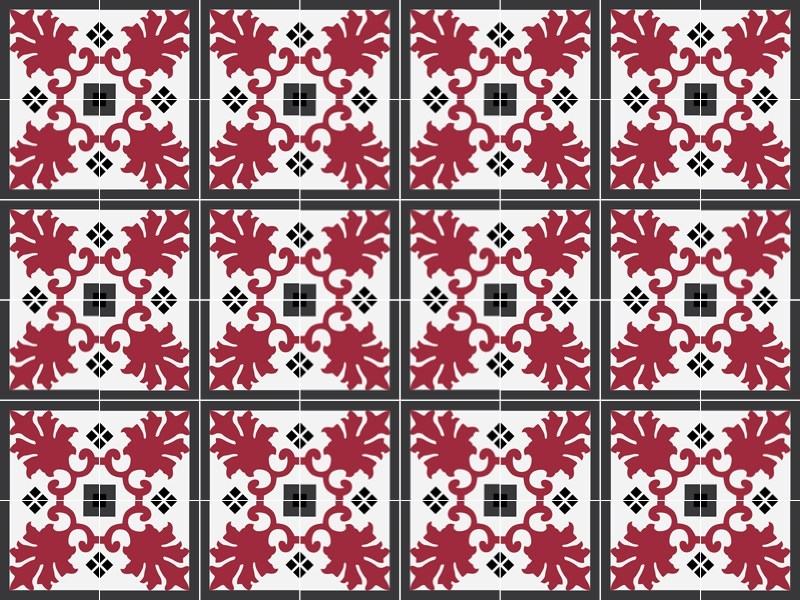 Handmade cement tiles ODYSSEAS 303 by TsourlakisTiles