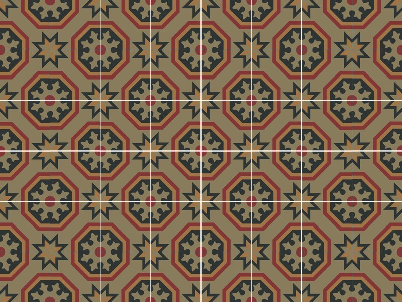 Cement tiles ODYSSEAS 328 by TsourlakisTiles