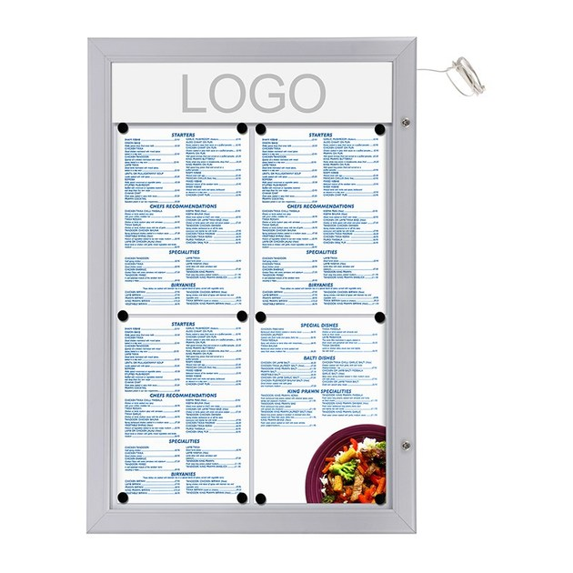 Wall-mounted freestanding double-sided notice board Bacheca porta menù by STUDIO T
