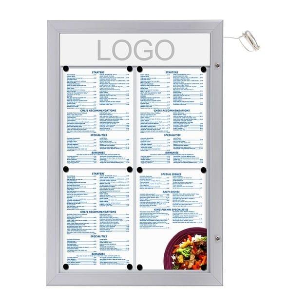 Bacheca porta menù bacheca porta menu a parete da esterno luminosa