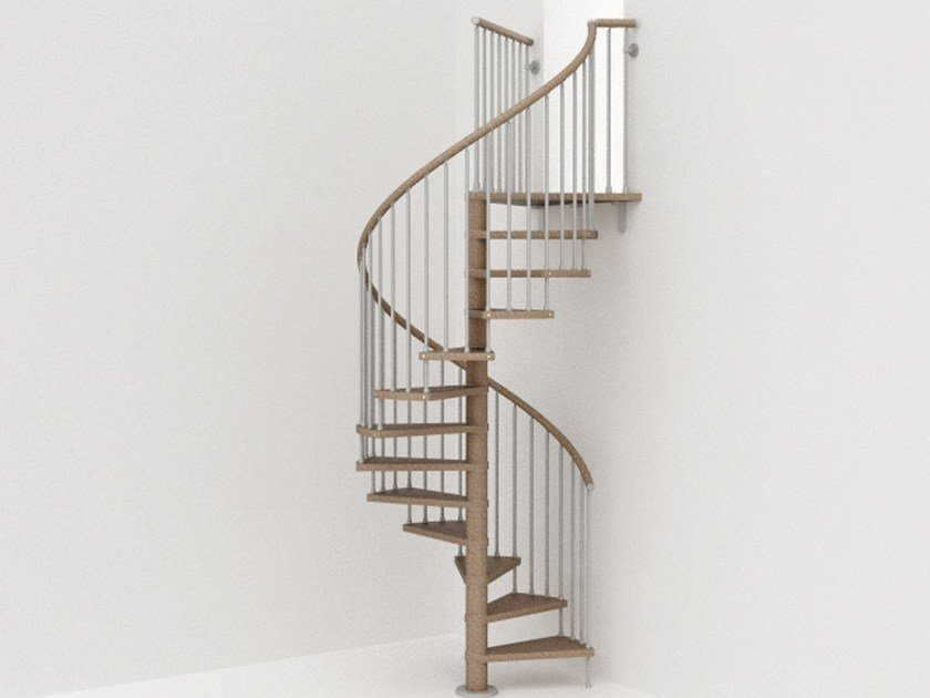 Self supporting steel Spiral staircase GENIUS 030 | Spiral staircase by Fontanot
