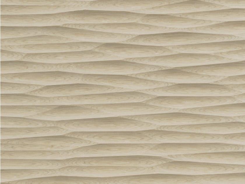 Wood veneer 3D Wall Panel THALWEG WOOD by Marotte