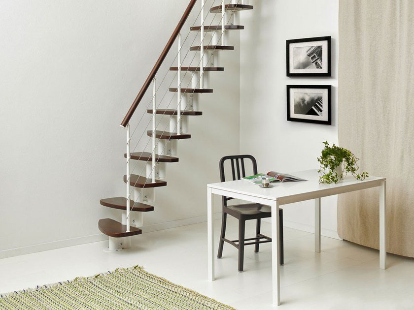 Beech Mini-staircase ZEN by Fontanot