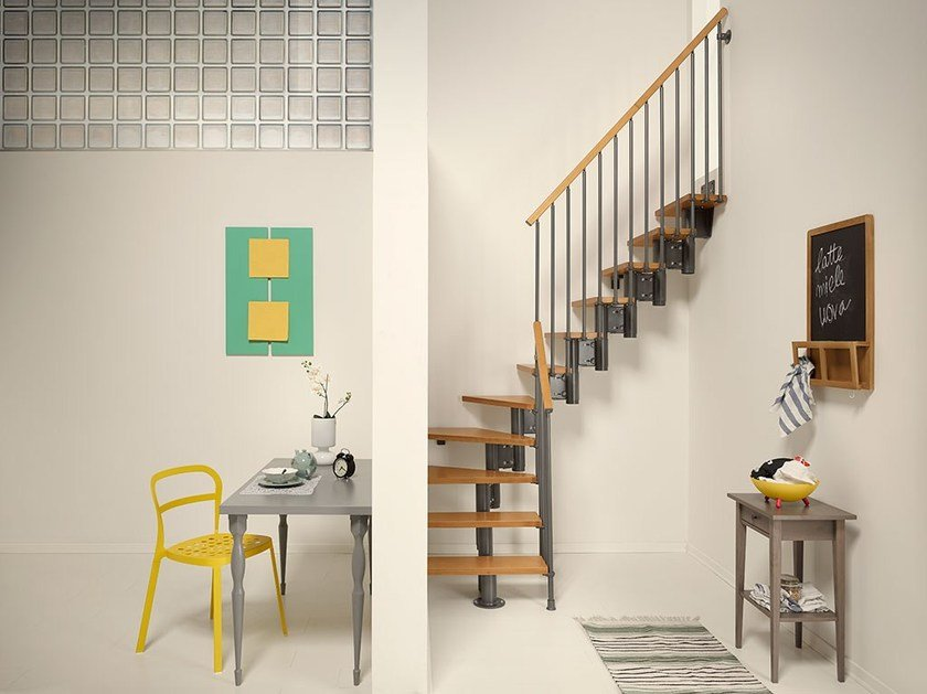 Birch Mini-staircase NICE4 by Fontanot