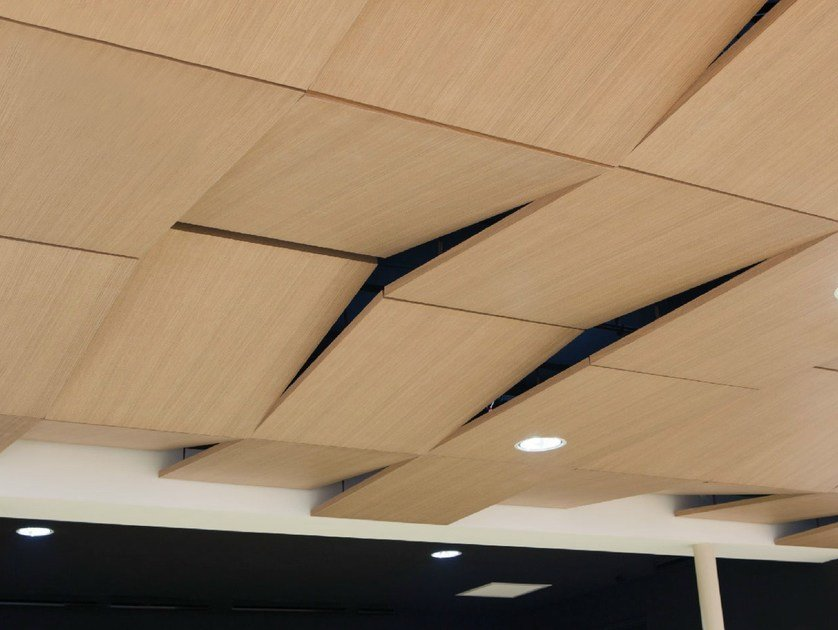 Acoustic laminate ceiling tiles PRESTIGE D'OBERFLEX | Ceiling tiles by Oberflex®