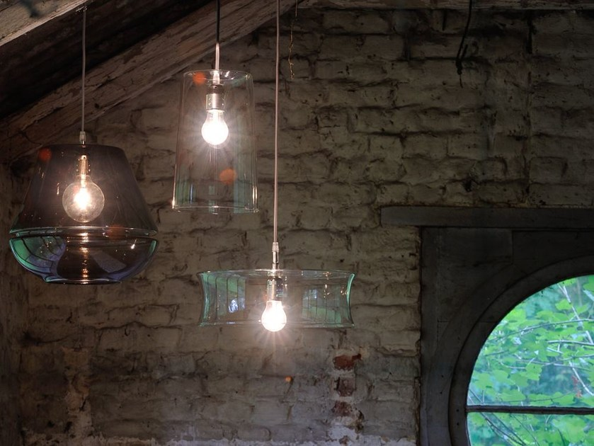 Pendant lamp 3 X 3 X 3 | Glass pendant lamp by Hind Rabii