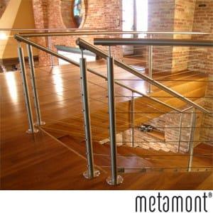 Stainless steel balustrade METAMONT by CP Sistemi