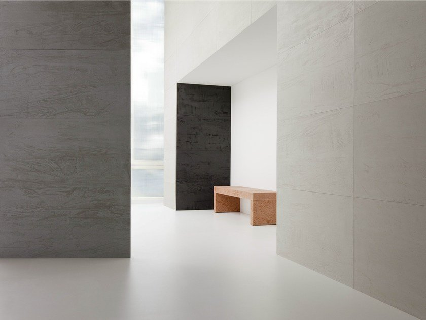MDF wall tiles with concrete effect OF-STONE.® by of-stone