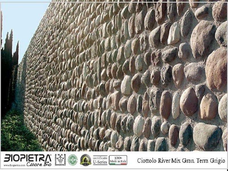 Artificial stone facade element CIOTTOLO RIVER by BIOPIETRA®