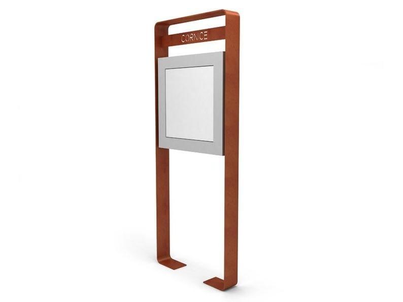 Freestanding steel notice board CORNICE   Notice board by LAB23 Gibillero Design