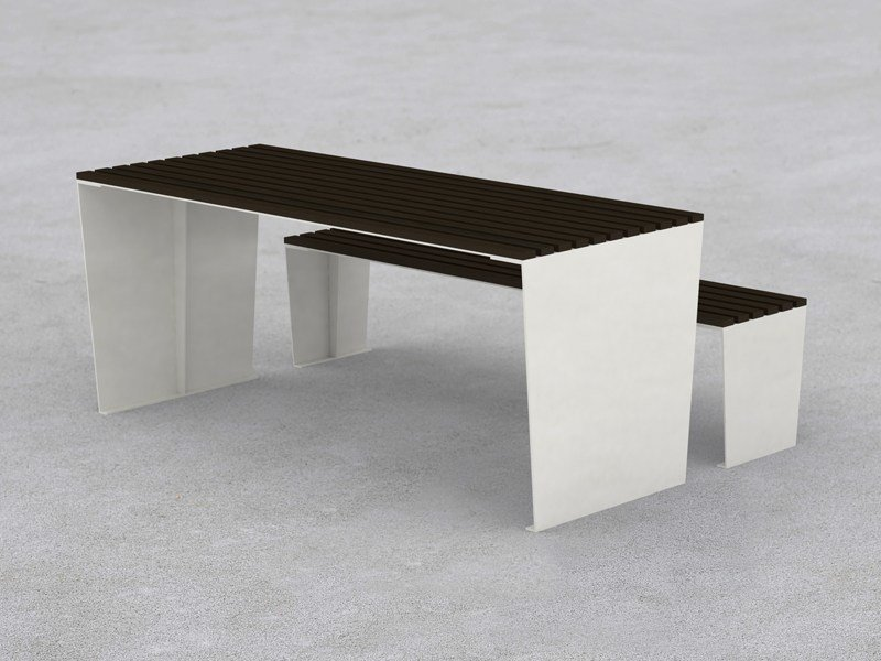 Rectangular steel Table for public areas MARILYN | Table for public areas by LAB23 Gibillero Design