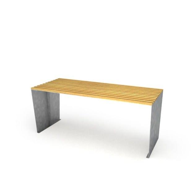 galvanized steel - natural wood