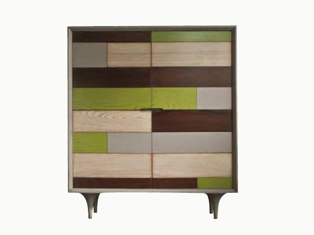 Wooden highboard with doors CHAGALL | Highboard by Shake