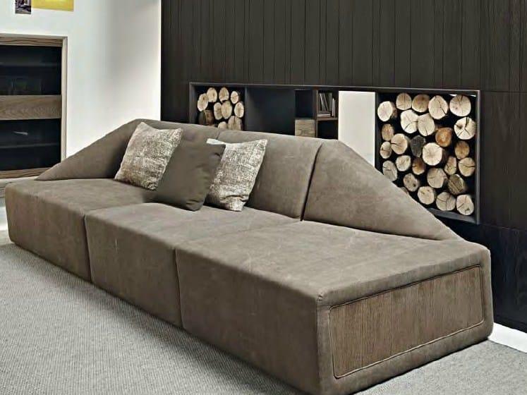Fabric sofa STONE by Shake