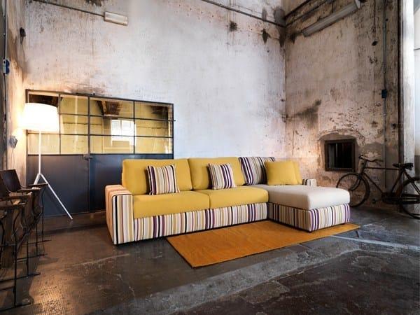 Sectional convertible fabric sofa GLENN | Sectional sofa by Domingo Salotti