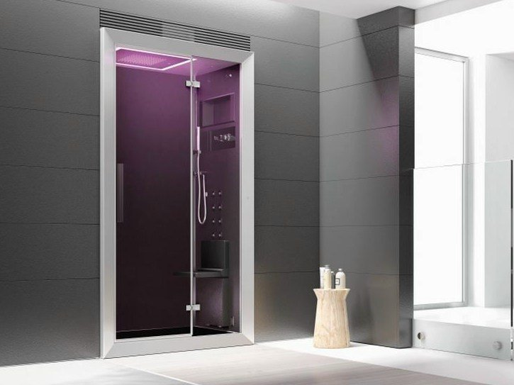 Cabina de ducha multifunción con baño de vapor FRAME 100 By Jacuzzi ...
