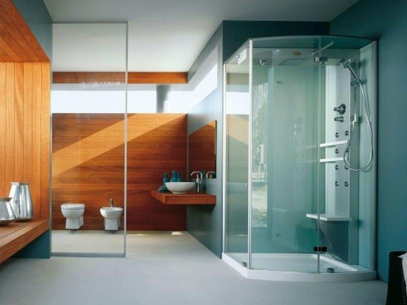 Box doccia con bagno turco con idromassaggio mynima 120 by jacuzzi