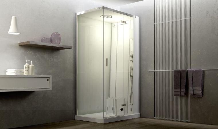 Vasca Da Bagno Angolare 120 120 : Box doccia angolare multifunzione con bagno turco cloud by