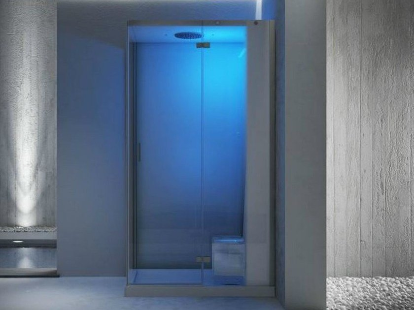 Corner multifunction steam shower cabin CLOUD 120 by Jacuzzi