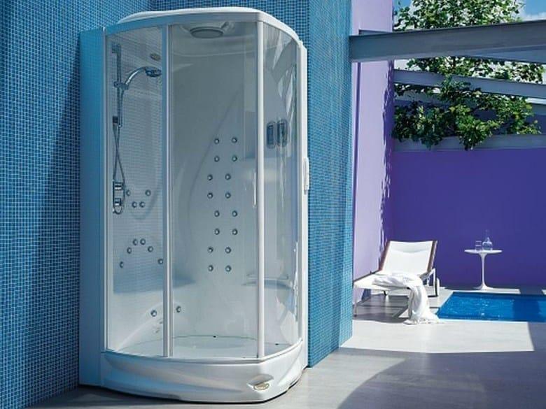 Cabine Doccia Jacuzzi : Box doccia multifunzione rettangolare con bagno turco flexa by
