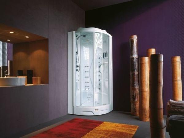 Cabine Doccia Jacuzzi : Box doccia multifunzione semicircolare con bagno turco flexa thema
