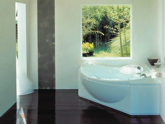 Corner whirlpool bathtub CELTIA by Jacuzzi