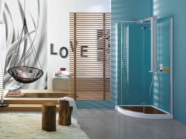 Corner crystal shower cabin START! 90 ROUND | Shower cabin by Jacuzzi